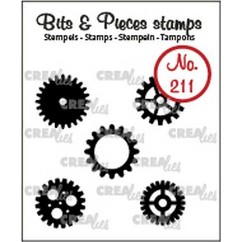 Crealies Clearstamp Bits & Pieces 5x tandwielen klein (dicht) CLBP211 5x max. 15mm (03-20)
