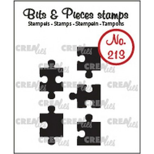 Crealies Clearstamp Bits & Pieces 5x puzzelstukjes (dicht) CLBP213 5x max. 10 x 17mm (03-20)