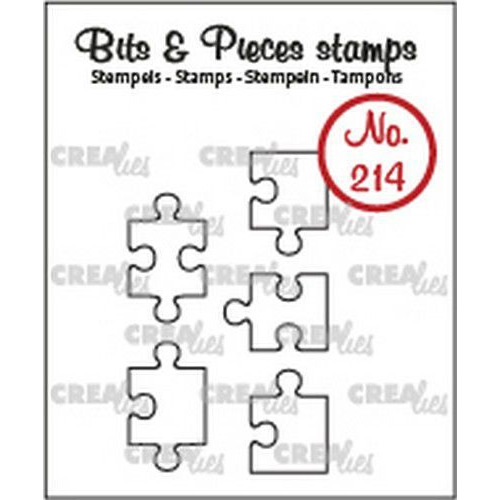 Crealies Clearstamp Bits & Pieces 5x puzzelstukjes (omlijning) CLBP214 5x max. 10 x 17mm (03-20)