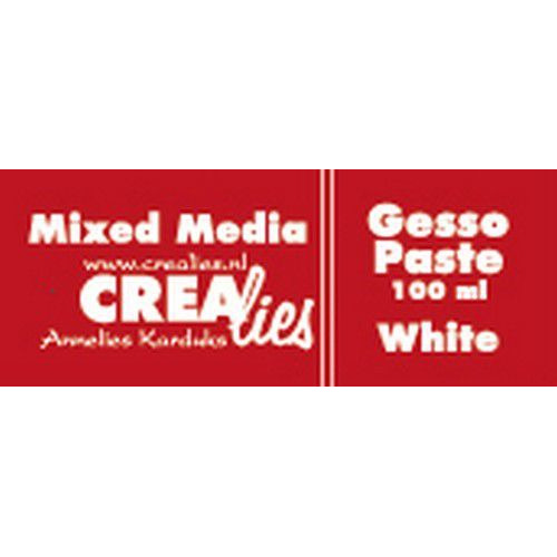 Crealies Mixed Media gesso wit 100 ml CLMM01 100 ml (03-20)