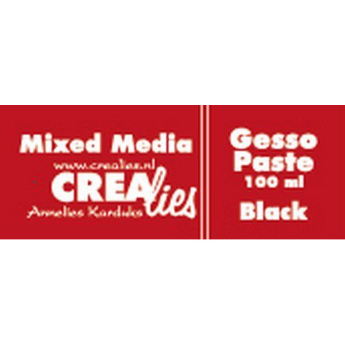 Crealies Mixed Media gesso zwart 100 ml CLMM02 100 ml (03-20)