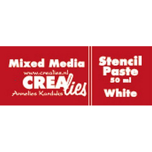 Crealies Mixed Media stencil pasta wit 50 ml CLMM21 50 ml (03-20)