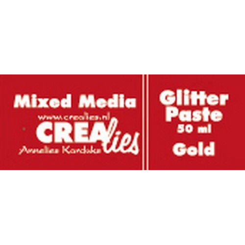 Crealies Mixed Media glitter pasta goud 50 ml CLMM32 50 ml (03-20)