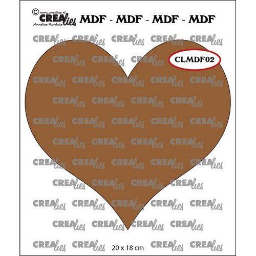 Crealies MDF hart CLMDF02 20 x 18cm (03-20)