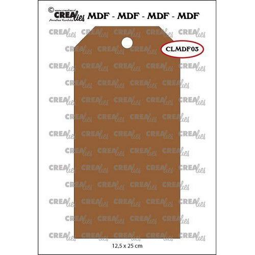 Crealies MDF label CLMDF03 12,5 x 25mm (03-20)