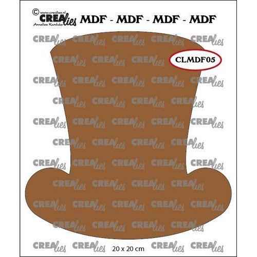 Crealies MDF steampunk hoed heren CLMDF05 20 x 20cm (03-20)