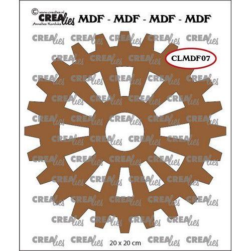 Crealies MDF tandwiel CLMDF07 20 x 20cm (03-20)