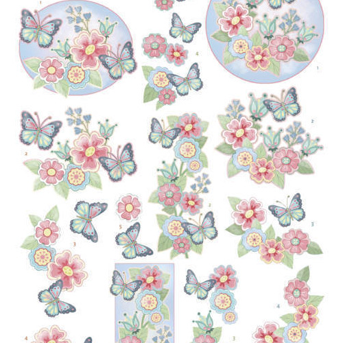3Dcutting sheet - Yvonne Creations -Funky Butterfly