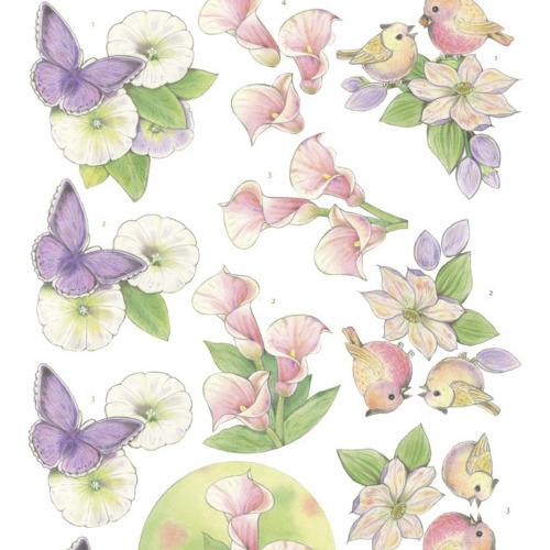 3Dcutting sheet -Jeanine's Art - Wonderful nature