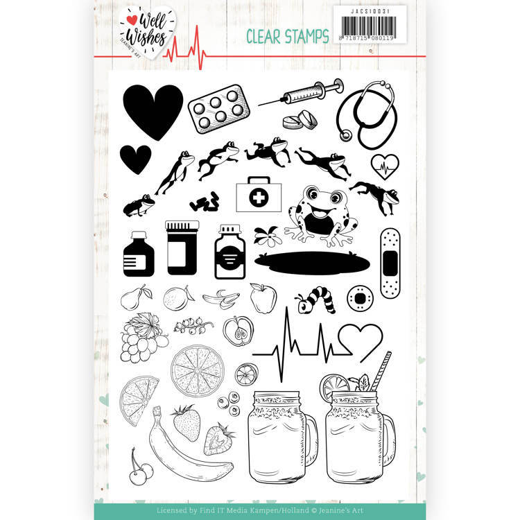 Clear Stamps - Jeanine's Art - Well Wishes