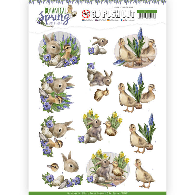 3D Pushout - Amy Design - Botanical Spring - Best Friends