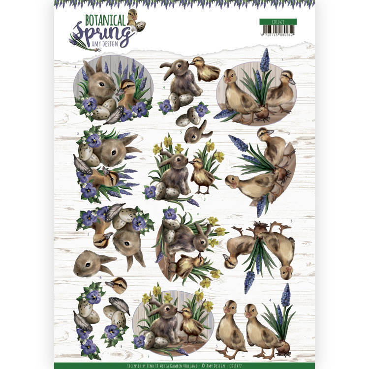 3D cutting sheet - Amy Design - Botanical Spring - Best Friends