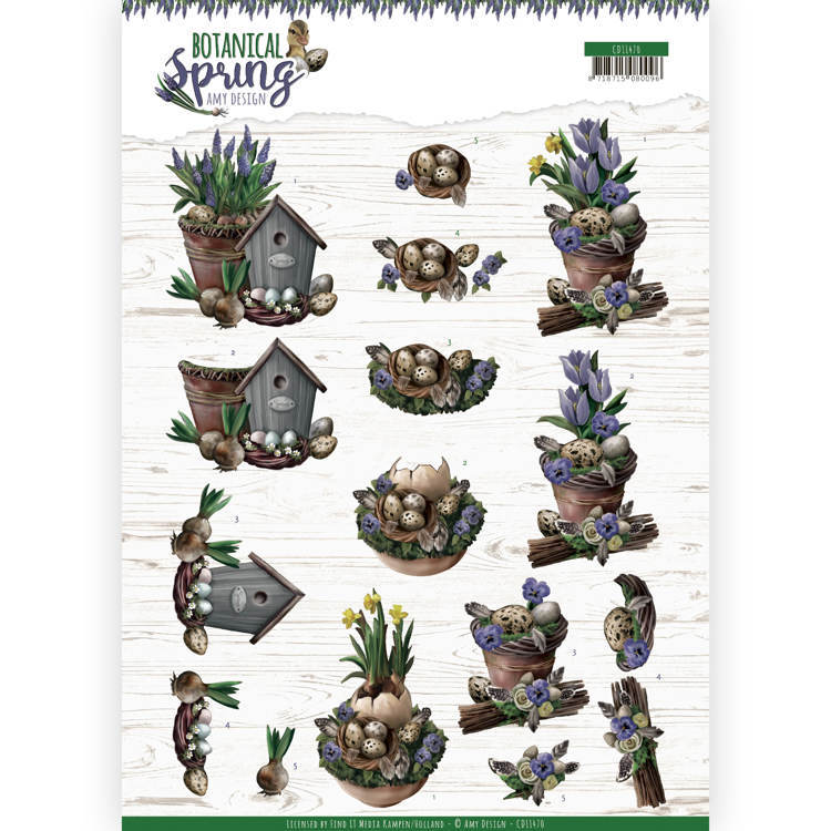 3D cutting sheet - Amy Design - Botanical Spring - Spring Arrangement