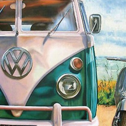 7503 diamond painting vw en scooter 40 x 50
