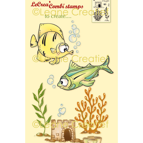 LeCreaDesign® combi clear stamp Vissen 2.