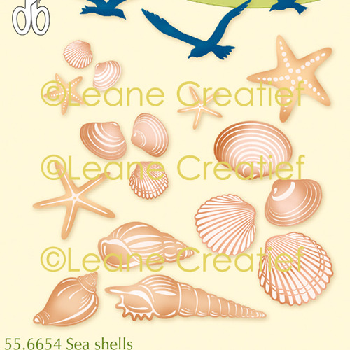 LeCreaDesign® clear stamp Zee schelpen