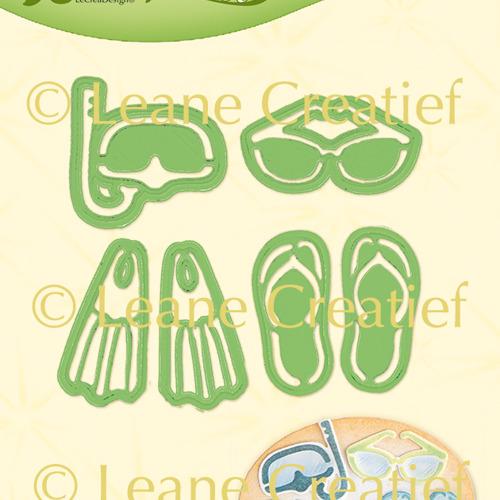 Leabilitie® Zomer & strand items snij en embossing mal