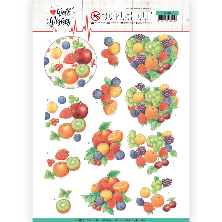 3D Pushout - Jeanine's Art - Well Wishes - Fruits