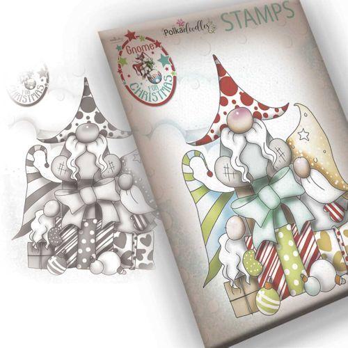 Polkadoodles stamp Gnome - Gift of Christmas