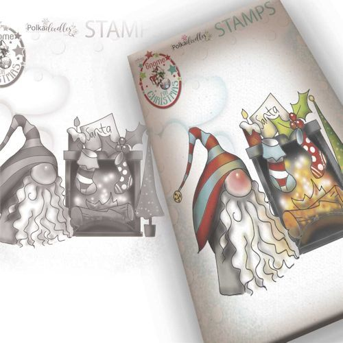 Polkadoodles stamp Gnome - More waiting