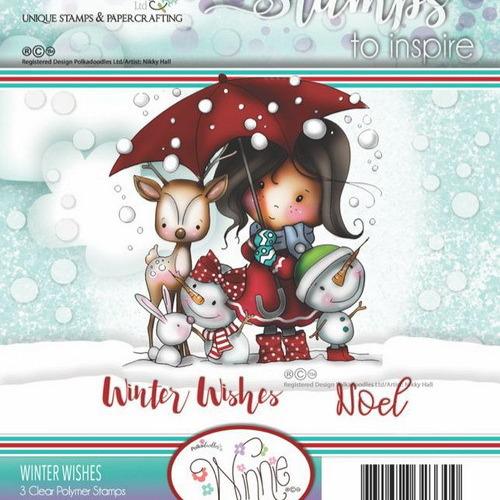 Polkadoodles stamp Winnie - Winter wishes