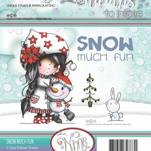 Polkadoodles stamp Winnie - Snow much fun