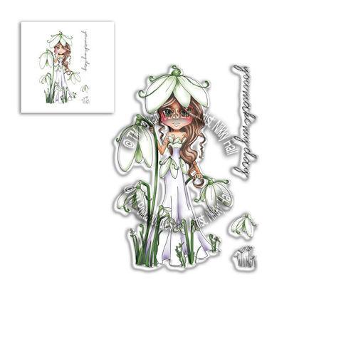 # Polkadoodles stamp Darling Bud - Snowdrop