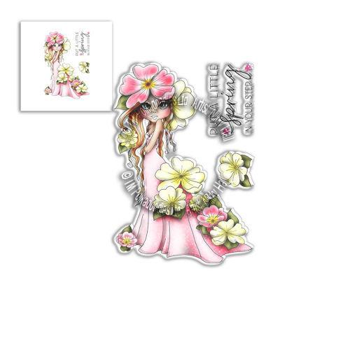 # Polkadoodles stamp Darling Bud - Tulip