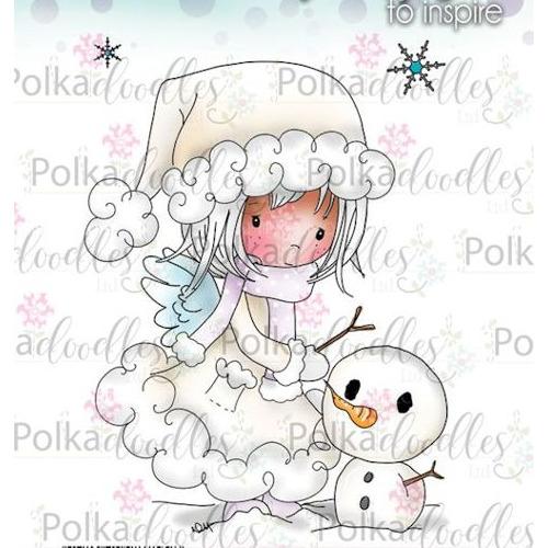 Polkadoodles stamp Winnie Snowman