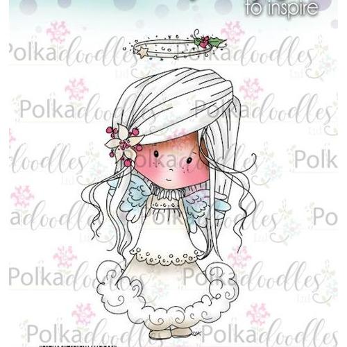 Polkadoodles stamp Winnie Angelic