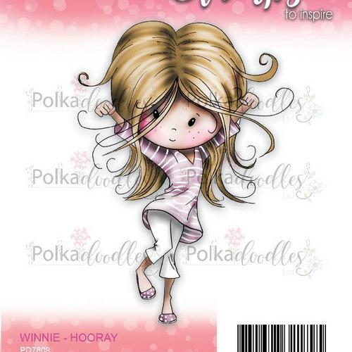Polkadoodles stamp Winnie - Hooray