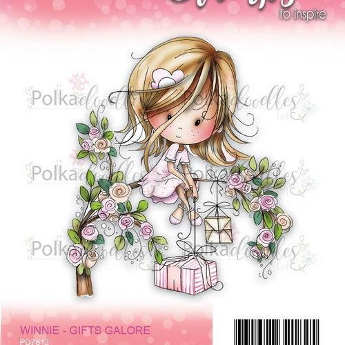 Polkadoodles stamp Winnie - Gifts galore
