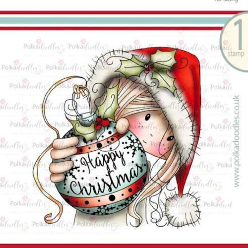 Polkadoodles stamp Winnie Bauble