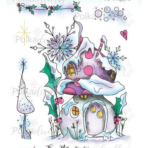 Polkadoodles stamp Snowtime magic