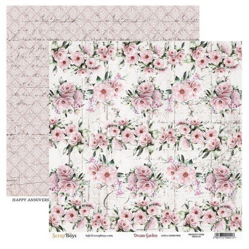 ScrapBoys Dream Garden paper sheet DZ DRGA-04 190gr 30,5cmx30,5cm (03-20)