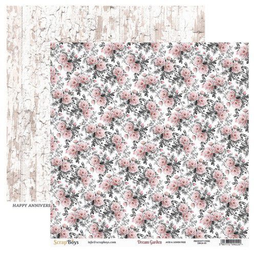 ScrapBoys Dream Garden paper sheet DZ DRGA-05 190gr 30,5cmx30,5cm (03-20)