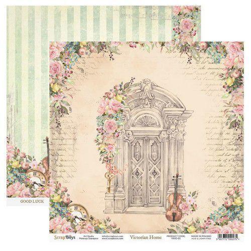 ScrapBoys Victorian Home paper sheet DZ VIHO-01 190gr 30,5cmx30,5cm (03-20)
