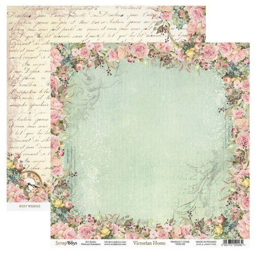 ScrapBoys Victorian Home paper sheet DZ VIHO-02 190gr 30,5cmx30,5cm (03-20)