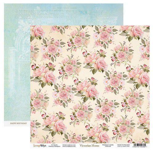 ScrapBoys Victorian Home paper sheet DZ VIHO-04 190gr 30,5cmx30,5cm (03-20)