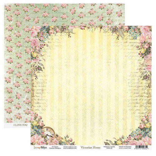 ScrapBoys Victorian Home paper sheet DZ VIHO-05 190gr 30,5cmx30,5cm (03-20)