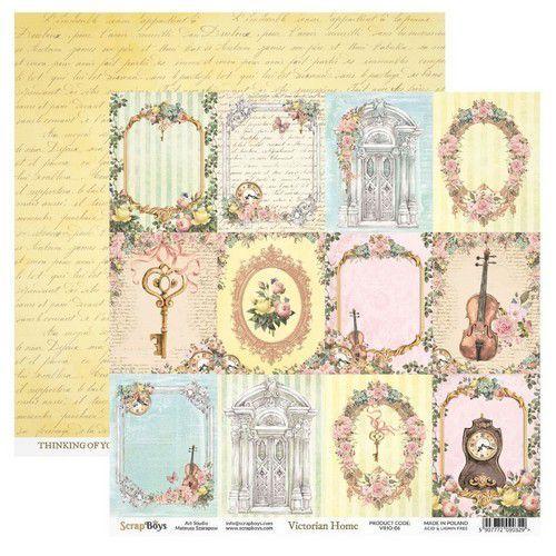 ScrapBoys Victorian Home paper sheet DZ VIHO-06 190gr 30,5cmx30,5cm (03-20)