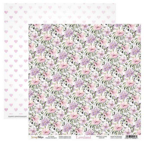ScrapBoys Loveland paper sheet DZ LOLA-04 190gr 30,5cmx30,5cm (03-20)
