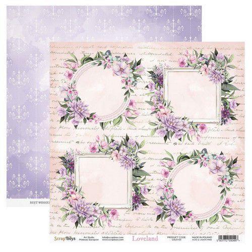 ScrapBoys Loveland paper sheet DZ LOLA-05 190gr 30,5cmx30,5cm (03-20)