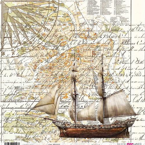 #2 6x rijstpapier scrap Maritim