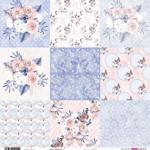 #2 6x rijstpapier scrap Flower Mix