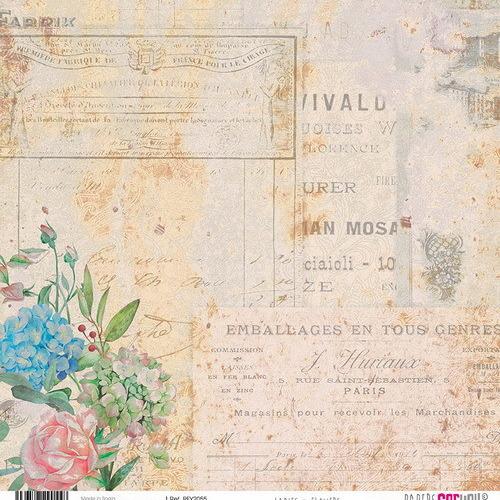 #2 6x rijstpapier scrap Ladies & Flowers