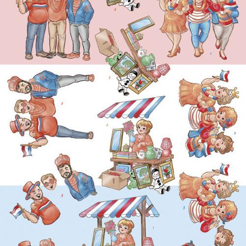 3D Cutting Sheet - Bubbly Girls - Kings day