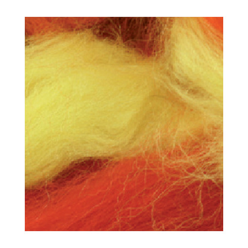 German merino wool mix pack, Red/Yellow
