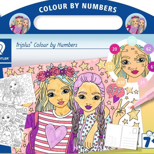 triplus mixed set colour by numbers Fashion