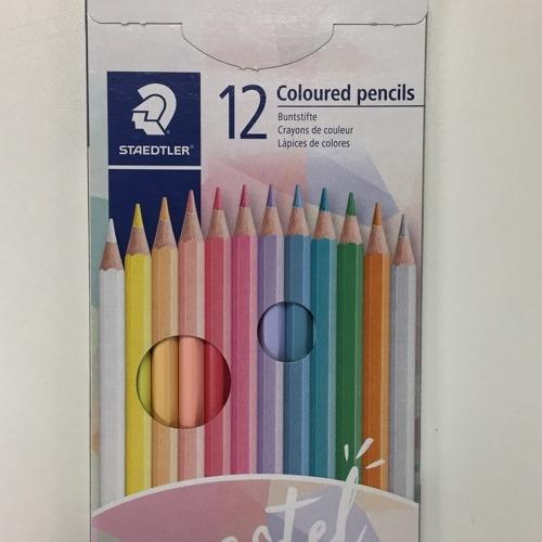 kleurpotloden - kartonnen etui 12 st pastel